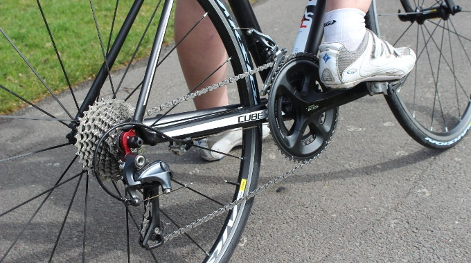 uphill gear change clipped in clippless shoes