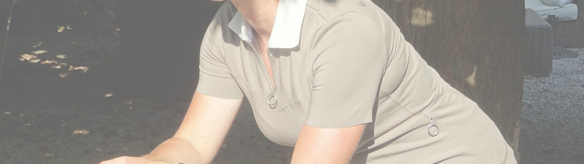 Reviewed Mien S Contrast Polo And Cycle Stretc
