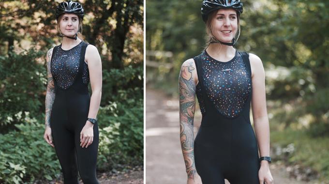 dhb Aeron FLT Women's Roubaix Halter Neck Cycling Bib Tight Navy Blue Size 10