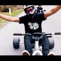 billy morgan on drift trike