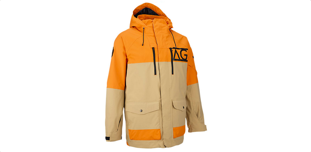 analog anthem orange snowboard jacket