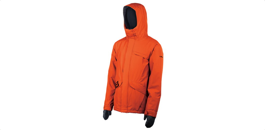 lib tech strait jacket orange snowboard jacket