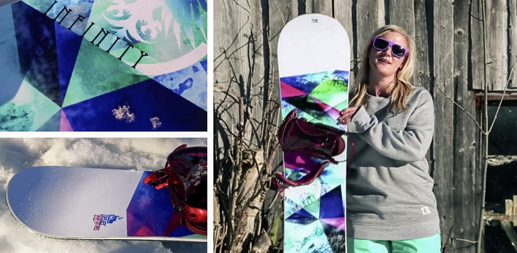 never summer infinity best womens snowboards