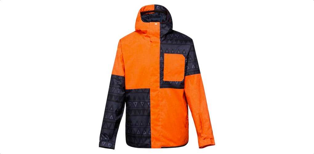 quiksilver reyn 10k orange snowboard jacket