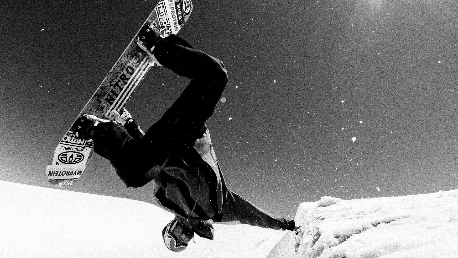 Wallpapers Whitelines Snowboarding